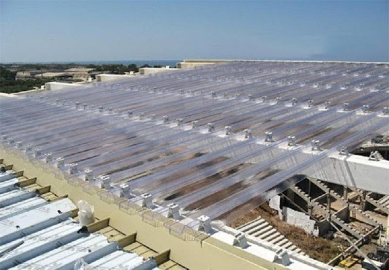 Tôn nhựa lấy sáng rất phù hợp cho các công trình nhà xưởng, nhà thép tiền chế