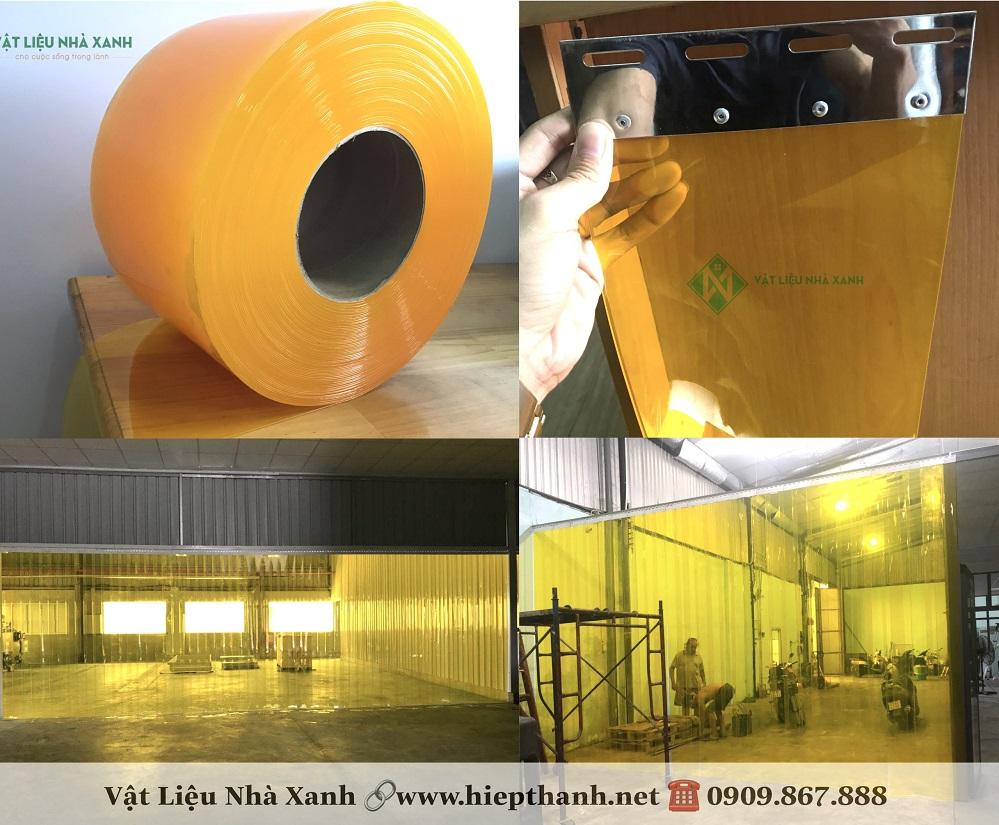 Màn nhựa pvc chống côn trùng có màu vàng cam đặc trưng