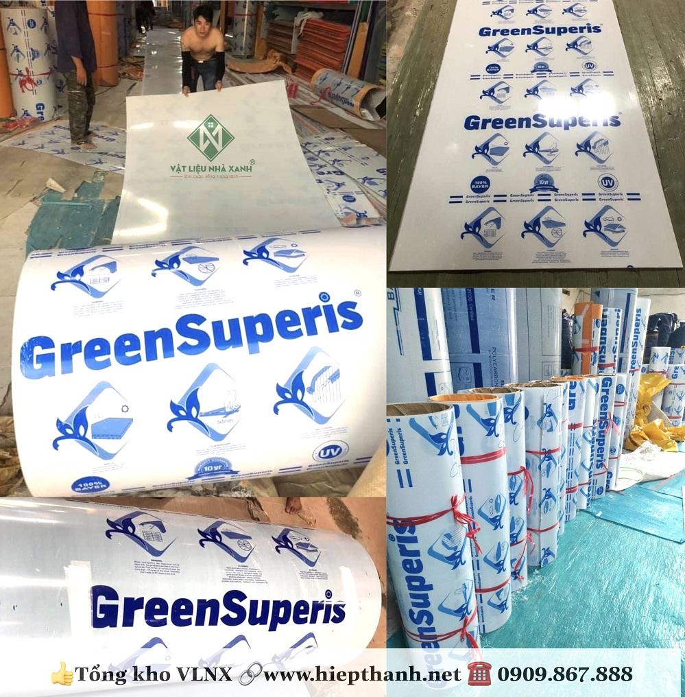 Tấm lợp lấy sáng đặc ruột Green Superis cao cấp nhập khẩu từ Taiwan
